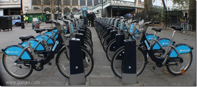 ایستگاه کرایه دوچرخه در لندن
