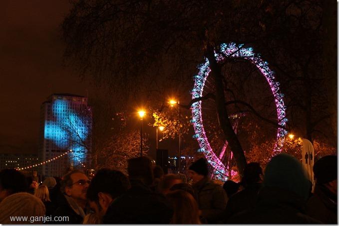 چشم لندن کمی قبل از آغاز 2012
